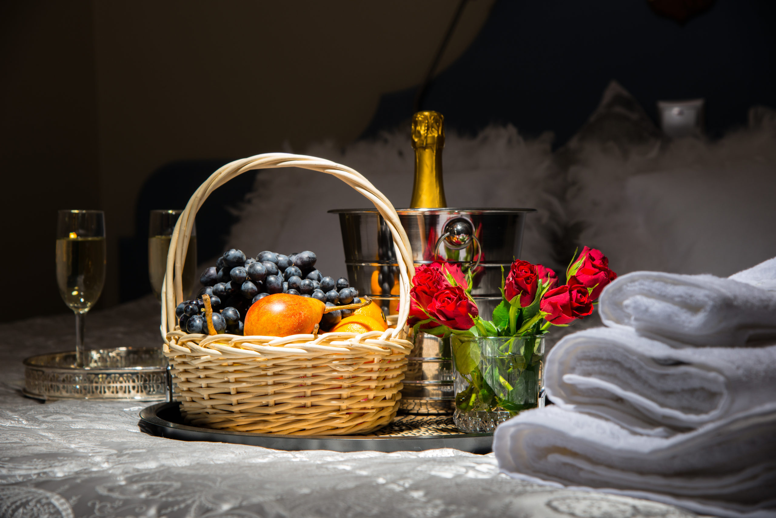 Sunrise fruit and wine